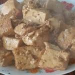桃小涩炒豆腐的做法