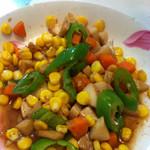 Li颖ying杏鲍菇炒甜玉米的做法