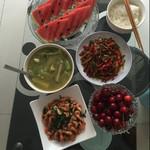 水晶果而韭菜炒河虾的做法
