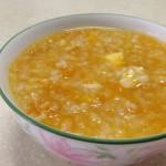 -綠姑娘-南瓜蛋黄小米粥的做法