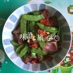 Sanོ荷兰豆炒腊肉的做法