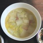 豆豆太狼火腿炖白菜的做法