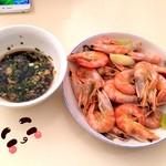N`白灼鲜虾的做法