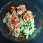 紫韵千千橘子胡萝卜水果沙拉的做法