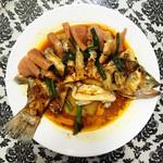 兔小溪火腿蒸鲈鱼的做法