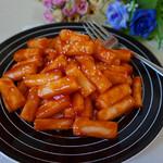 甜盐蜜语茄汁炒年糕的做法