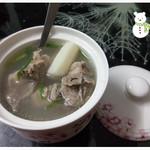 椰林夏风山药排骨汤的做法