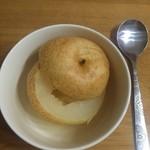 灰色的小兔子冰糖蒸梨的做法