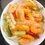 甜甜Mami青红椒炒虾仁的做法
