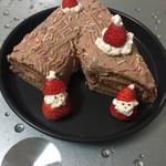 逗号6155圣诞树根蛋糕的做法