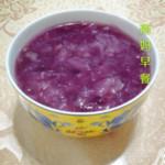 色彩斑斓的清晨紫薯银耳羹的做法