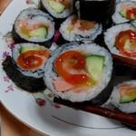 爱尔兰杯中的眼泪三文鱼寿司的做法