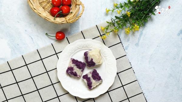 紫薯山药糕的做法视频图片