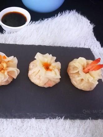 香菇虾仁糯米烧麦的做法