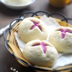 花开紫薯馒头