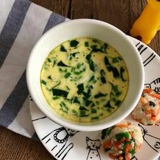 宝宝辅食:菠菜虾皮蒸蛋