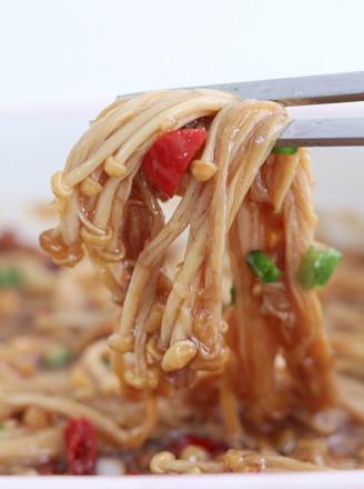 蒜茸金针菇的做法