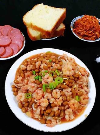 虾仁茄汁黄豆面的做法