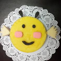 卡哇伊的小蜜蜂蛋糕