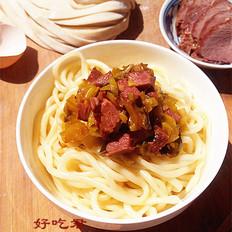 老坛酸菜牛肉拌面