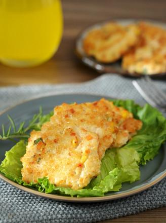 雞胸肉蝦仁鮮蔬餅的做法