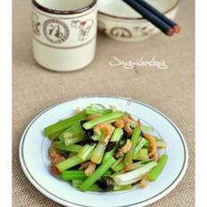 芹菜拌海米