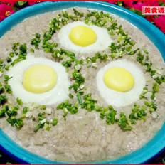 莲藕肉饼蒸蛋