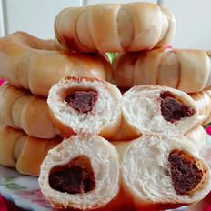 椰香豆沙面包圈