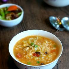 番茄米疙瘩汤
