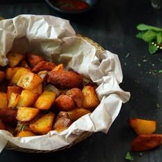 孜然香肠烤土豆