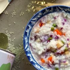 蔬菜香米粥