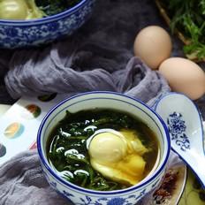 艾草红糖荷包蛋