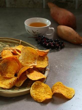 奶香烤红薯片的做法