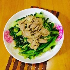 肉片炒莴笋叶