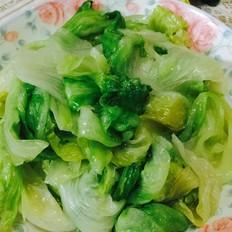 清炒西生菜