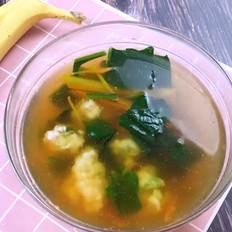 蔬菜虾滑汤