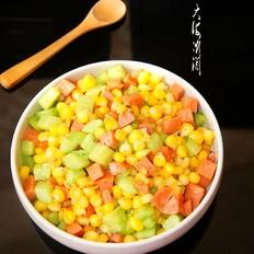 嫩玉米粒炒火腿肠