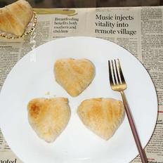 心形酥皮月饼