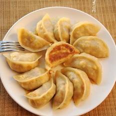 白菜香菇素馅水煎饺