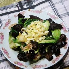 油菜炒黑木耳