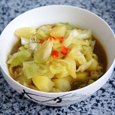 卷心菜炖土豆