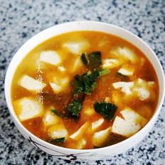 盖菜豆腐汤