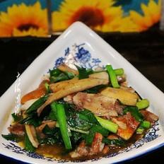 松茸炒韭菜