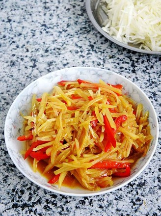 彩椒土豆丝的做法