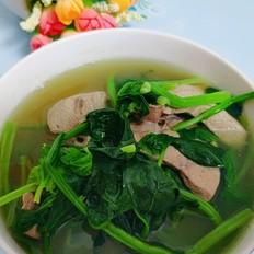猪肝菠菜汤的做法大全