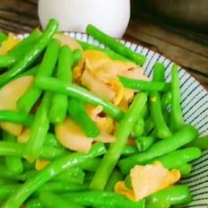 鸡腿菇炒豆角