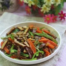 香干胡萝卜炒肉丝