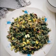 萝卜缨子炒毛豆
