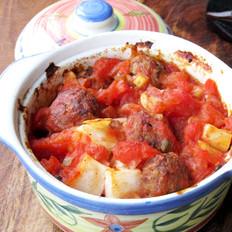 茄汁焗烤牛肉丸