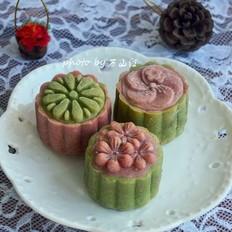 桃山皮赤豆蛋黄月饼